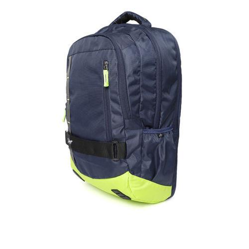 Skybags Unisex Navy Blue & Green Geek 05 Backpack