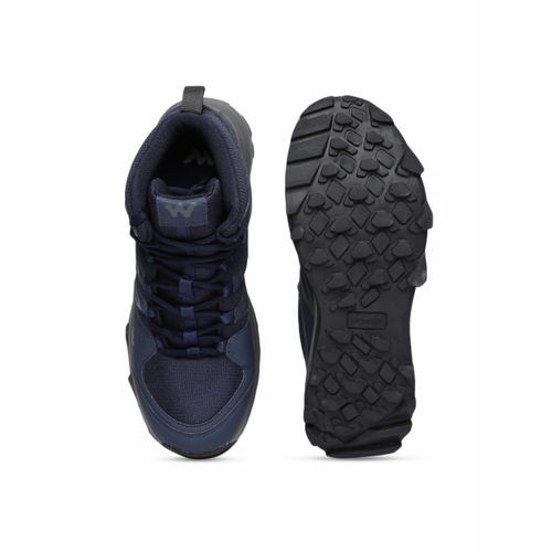 Wildcraft Men Navy Blue Mesh Mid-Top Trekking Shoes