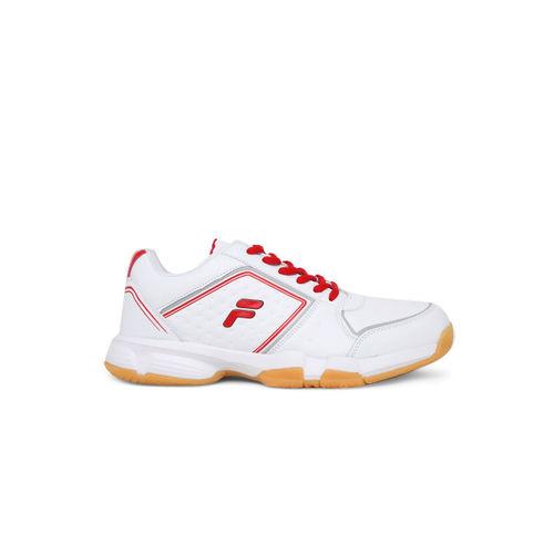 FILA Men White SERVE Tennis Shoes