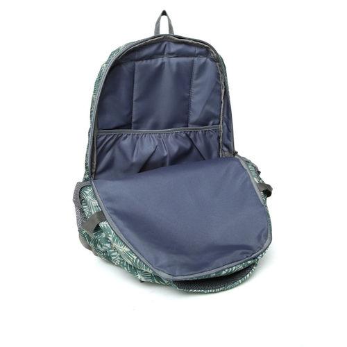 Impulse Unisex Green Leaf Print Laptop Backpack