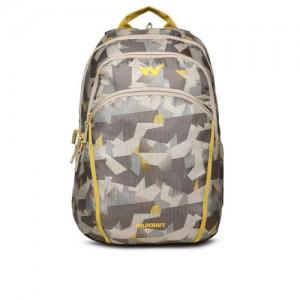 Wildcraft Unisex Brown & Grey Printed Backpack