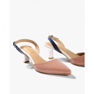 AJIO Colourblock Heeled Slingback Shoes