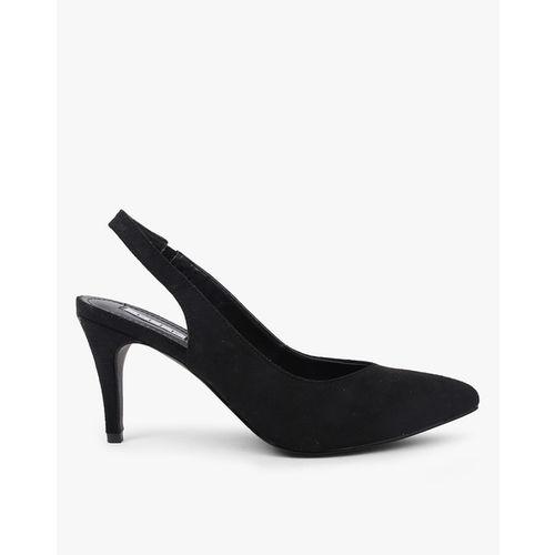 ELLE Pointed-Toe Slip-On Heeled Shoes