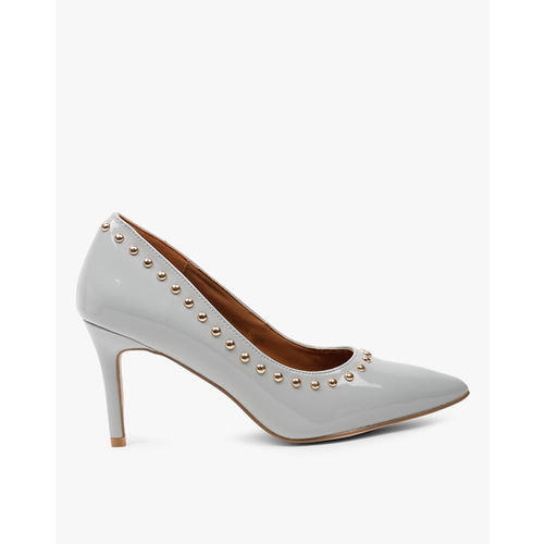 AJIO Embellished Pointed-Toe Pumps
