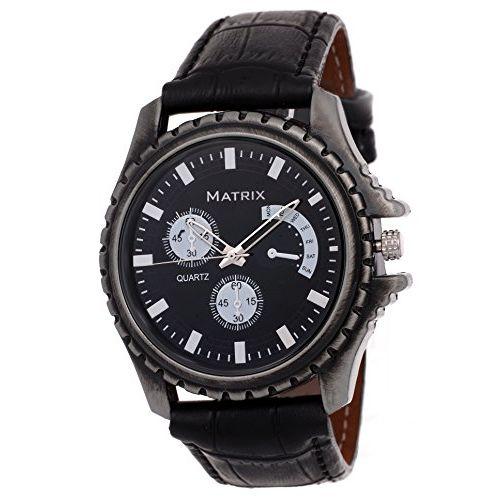 Matrix Analog Black Dial Men's Watch-WCH-144-GRY