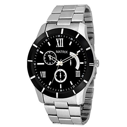 Matrix Analog Black Dial Watch for Men & Boys-WCH-155