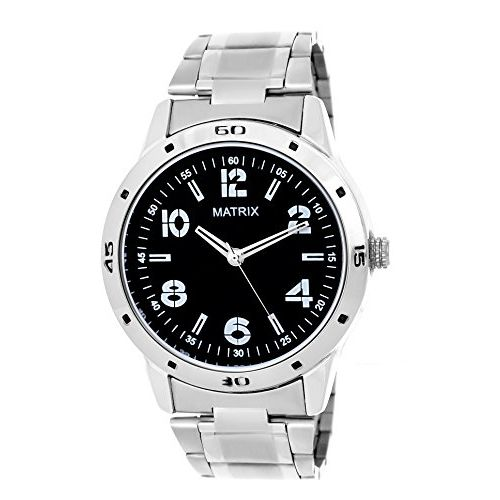 Matrix Analog Black Dial Men's Watch- (WCH-110-ST)