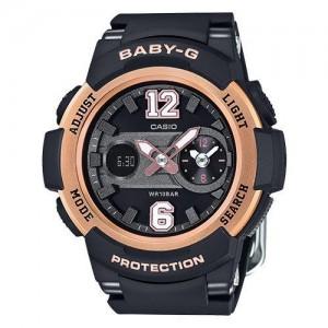 Casio Black Round Analog-Digital Watch - BGA-210-1BDR (BX045)