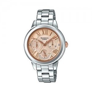 Casio Silver Round Analog Watch - SHE-3059D-9AUDR (SX205)