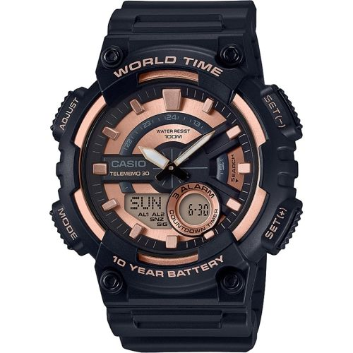 Casio AD222 Black Round Analog&Digital Watch