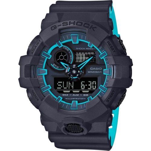 Casio G762 G-Shock Black&Blue Round Analog&Digital Watch