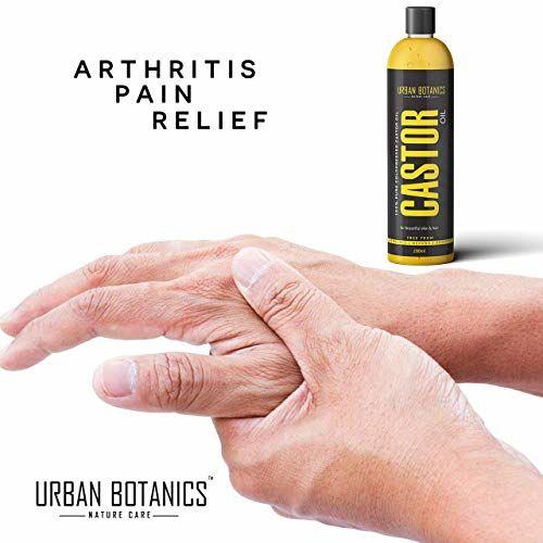 UrbanBotanics Cold-Pressed Castor Oil For Hair Growth   200ml  100% Pure & Organic   For Moisturizing, Healing, Dry Skin, Nail Care, Eyelashes (Hexane-Free)