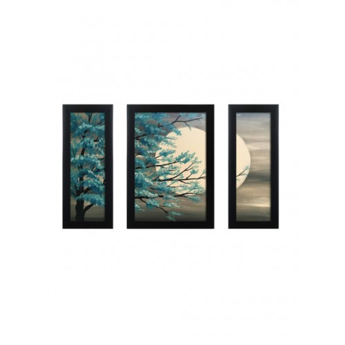 Nest ART Set Of 3 Multicoloured Sunrise Wall Art