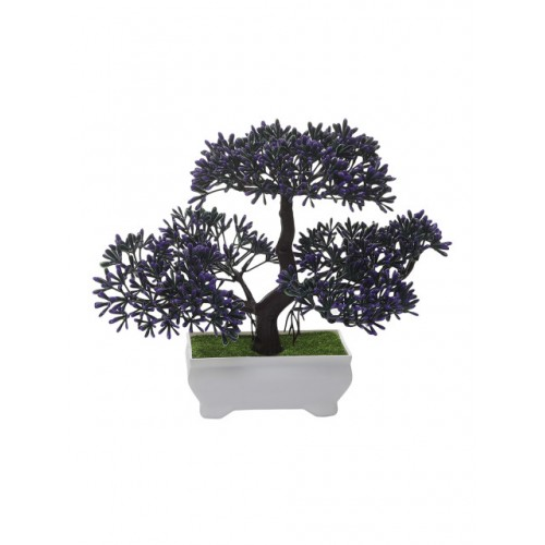 FOLIYAJ Green & Purple Artificial Plant With Pot
