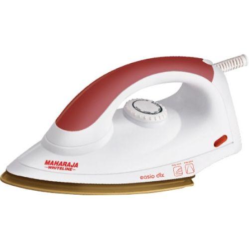 Maharaja Whiteline Easio DLX White and Red 1000-Watt Dry Iron