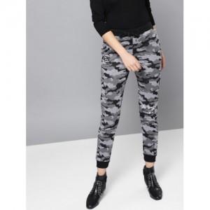 Kook N Keech Disney Grey & Black Canvas Camouflage Pattern Joggers