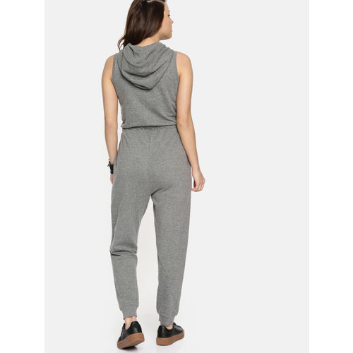 Roadster Charcoal Solid Basic Jumpsuit