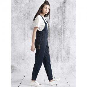 4bf843ce3a4 Buy Desi Weaves Navy Blue Cotton Printed Jodhpuri Jumpsuit online ...