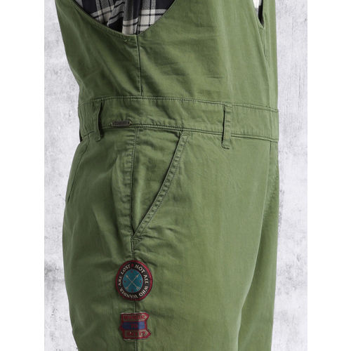 Roadster Women Olive Green Dungarees