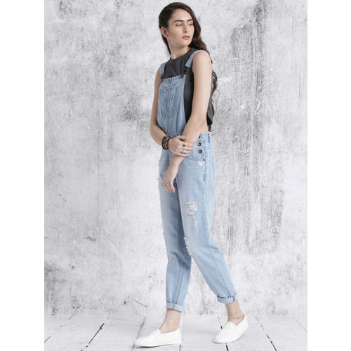 Roadster Blue Wahsed Dungarees
