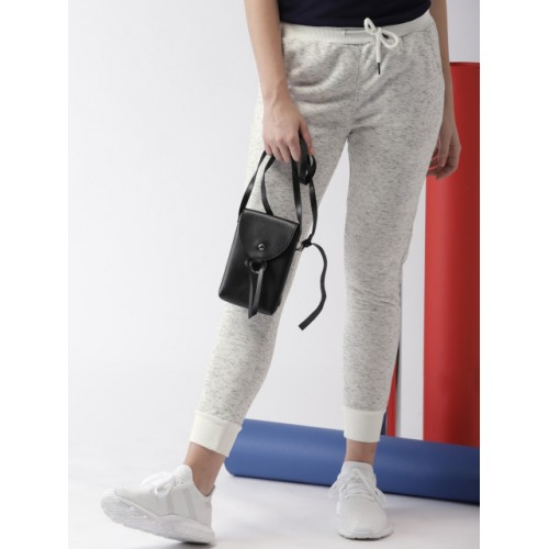 Harvard White Polyester Solid Joggers