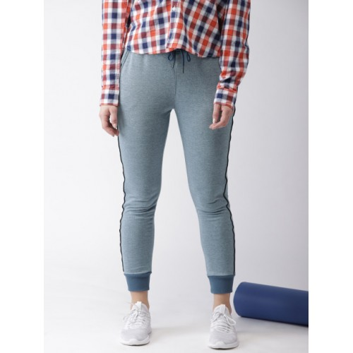 Harvard Blue Polyester Solid Joggers