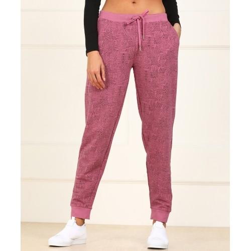 57bcbab9a7 Buy Van Heusen Pink Printed Track Pants online   Looksgud.in