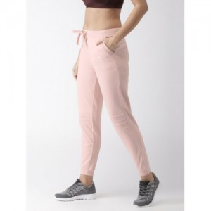 Kappa Pink Cotton Regular Fit Solid Joggers