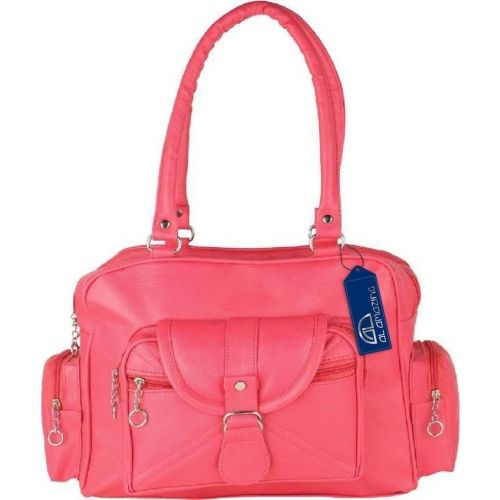 AL Amazing Pink Polyurethane Shoulder Bag