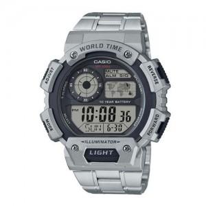 CASIO Silver Round Digital Watch D153