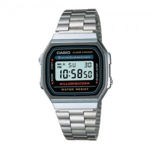 CASIO D131 Square Stainless Steel Digital Watch