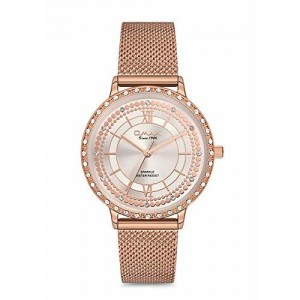 OMAX Analog Light Pink Dial Womens Watch - SPM02RP8I