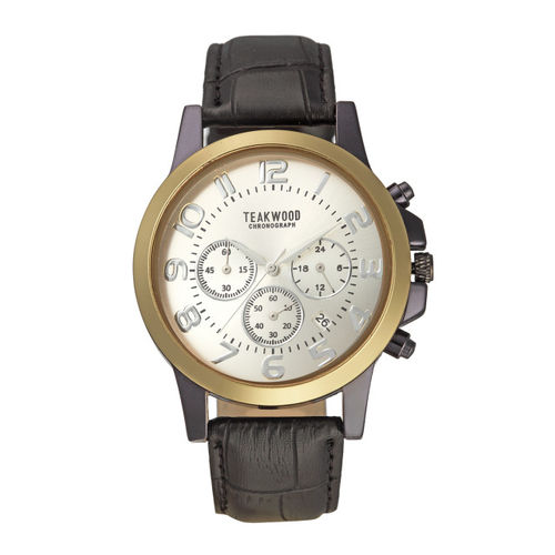 Teakwood Leathers Men Gold-Toned Analogue Watch WTH_A_78