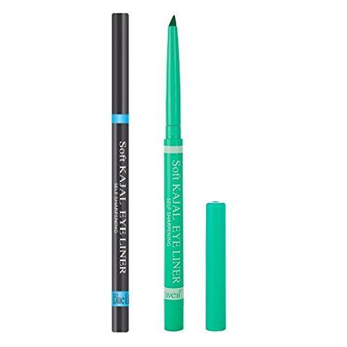 Blue Heaven Combo Soft Kajal (Black and Green)-Set of 2