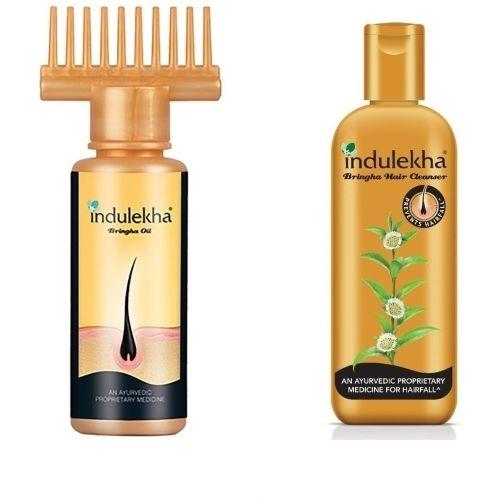 Indulekha bhringraj hair oil 100ml and shampoo 200ml Combo Pack