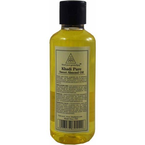 Khadi Herbal SWEET ALMOND OIL BY GRAMODYOG Hair Oil