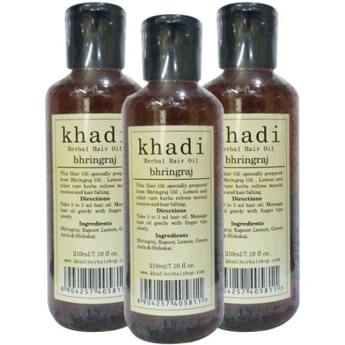 Khadi Herbal Bhringraj [PACK OF 3] Hair Oil