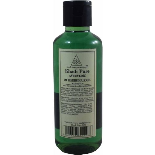 Khadi Pure 21 Herbs Herbal Ayurvedic Hair Oil