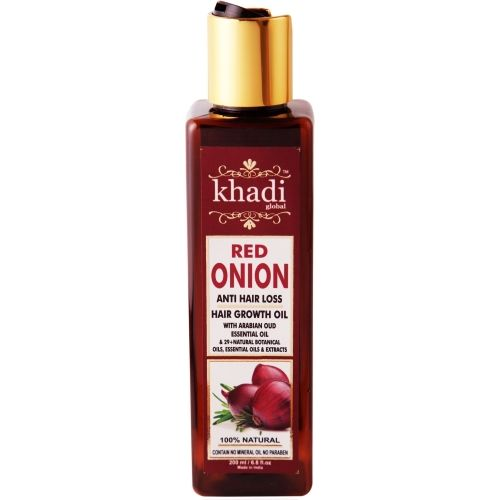 Khadi Global Red Onion Hair Growth Oil With Pure Argan Jojoba Rosemary Black Seed Oil In Purest Form Control Hair Loss Promotes Hair Growth Hair Oil