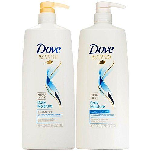 Dove Damage Therapy Daily Moisture 40 Oz Jumbo Shampoo + Conditioner Duo Set
