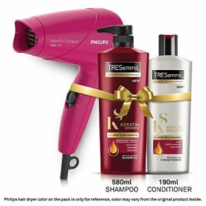 TRESemme Keratin Smooth Shampoo and Conditioner Plus Philips Hair Dryer(Set of 3)