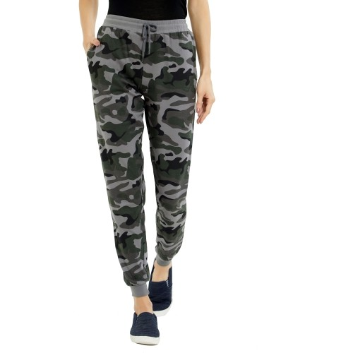 Maniac Camouflage Grey Printed Track Pants