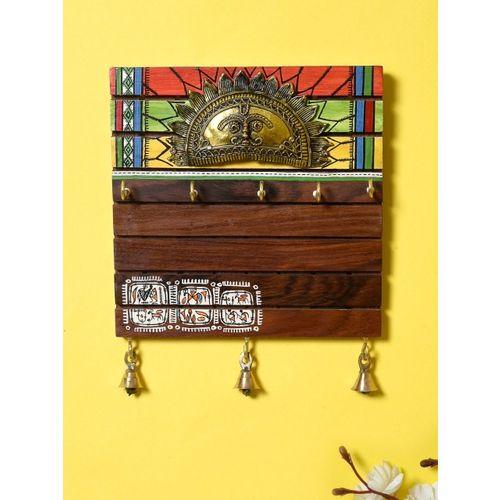 Unravel India Dhokra Craft & Warli Painted Fusion Key Holder