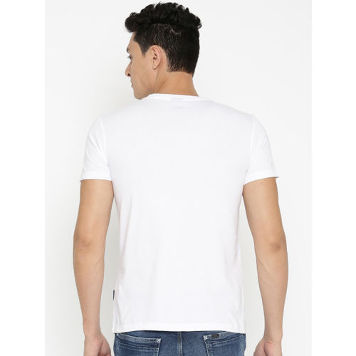 Lee Men White Printed Round Neck T-shirt