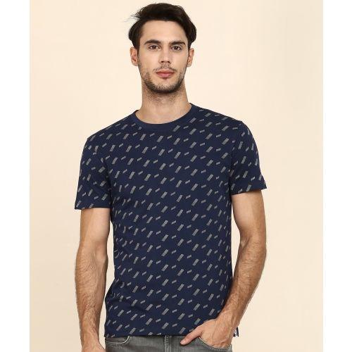 Lee Printed Men's Round Neck Blue T-Shirt