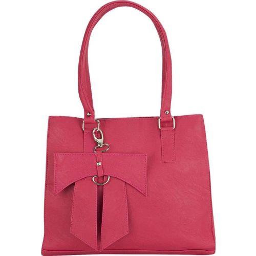 View Pink Leather Solid Shoulder Bag