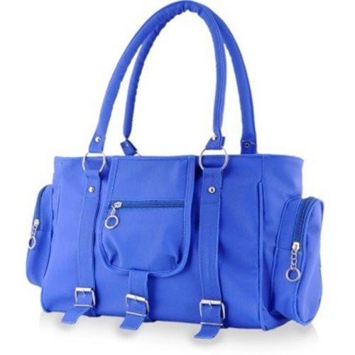 SCORIA Blue Polyurethane Shoulder Bag