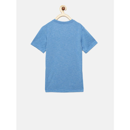 Nike Boys Blue Printed Round Neck T-shirt