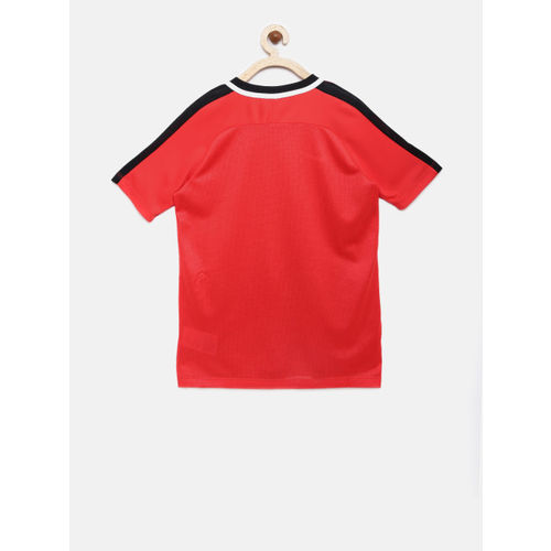 Nike Boys Red DRY ACDMY SS GX2 Round Neck T-shirt