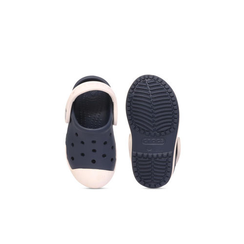 Crocs Boys Navy Blue & Off-White Clogs
